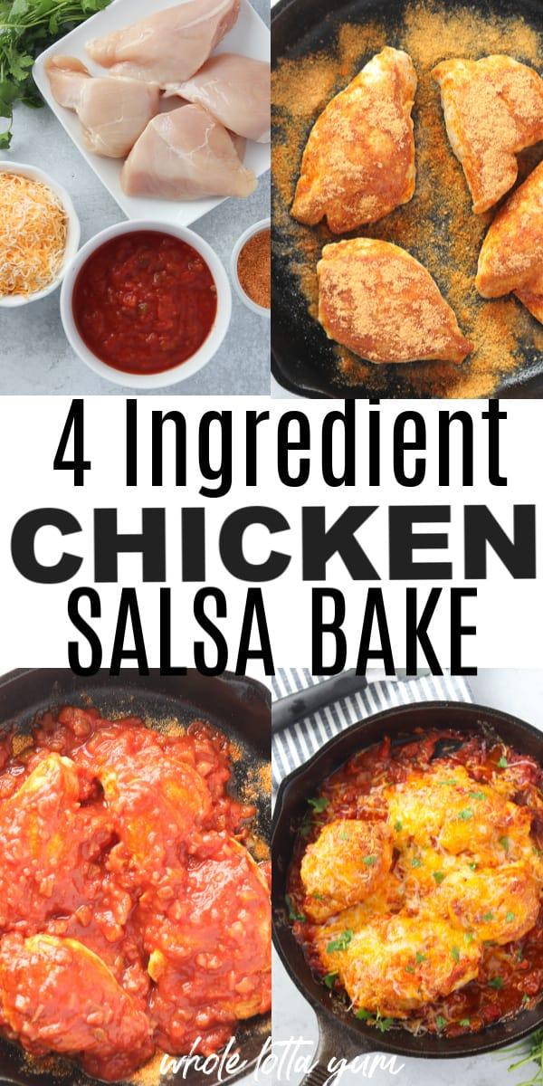 salsa chicken recipe pinterest