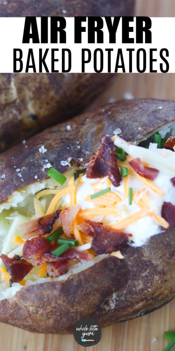 baked potato in the air fryer Pinterest pin 2