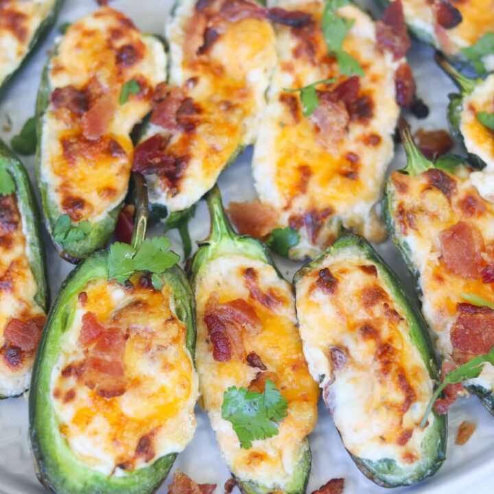 Cream Cheese Jalapeno Poppers Recipe with Bacon (Oven+Air Fryer)