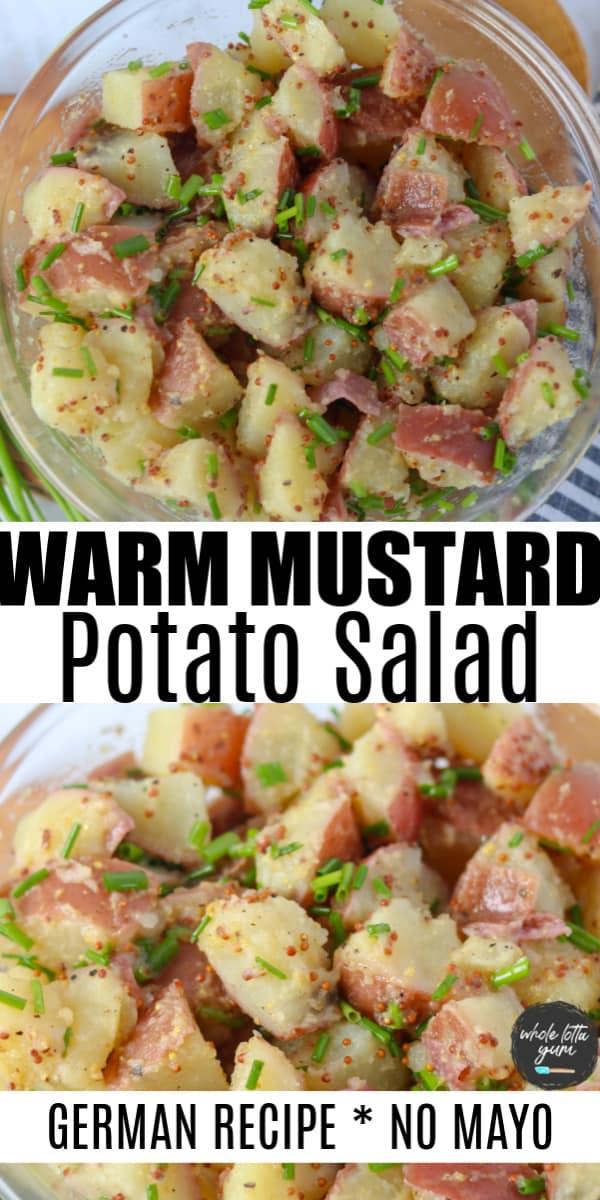 easy german potato salad recipe Pinterest pin