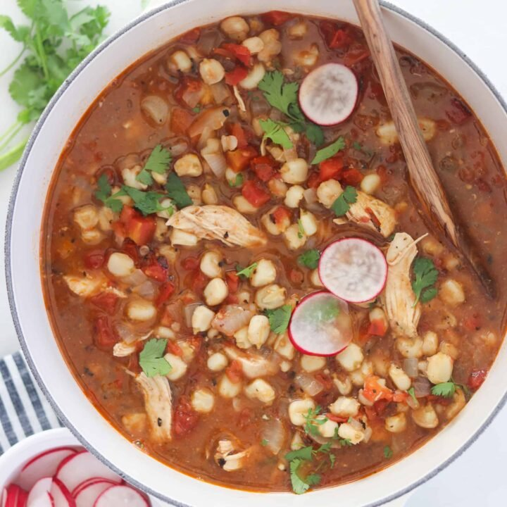 Chicken Pozole Recipe (Instant Pot Pasole + Stovetop)