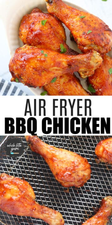 chicken drumsticks in air fryer pinterest pin