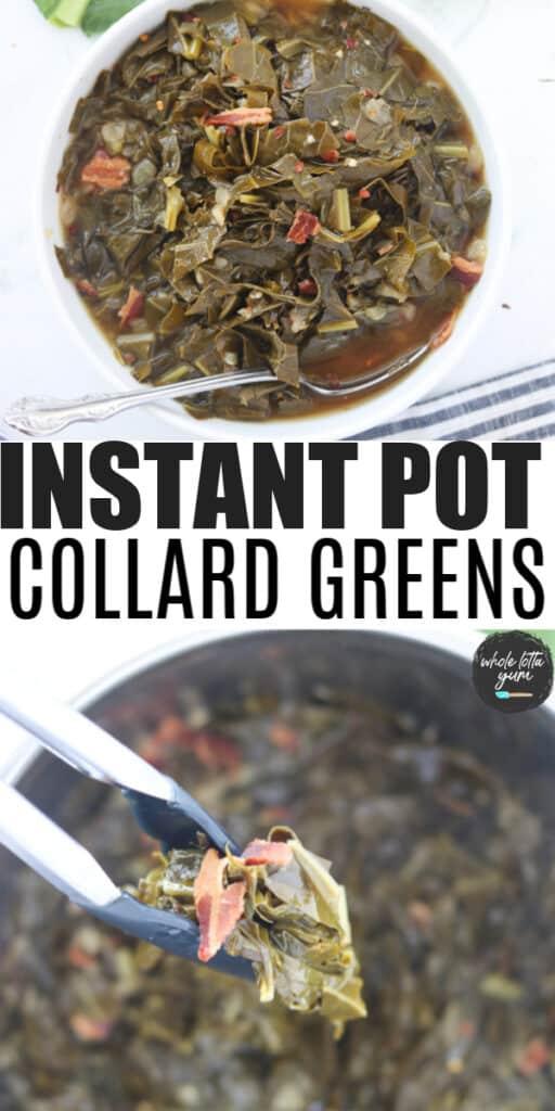 collard greens in instant pot Pinterest pin