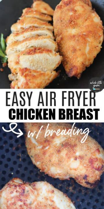 crispy air fryer chicken breast Pinterest pin