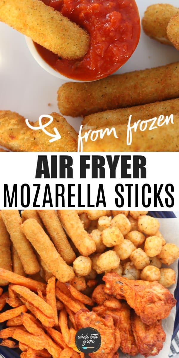 frozen cheese sticks in air fryer Pinterest pin