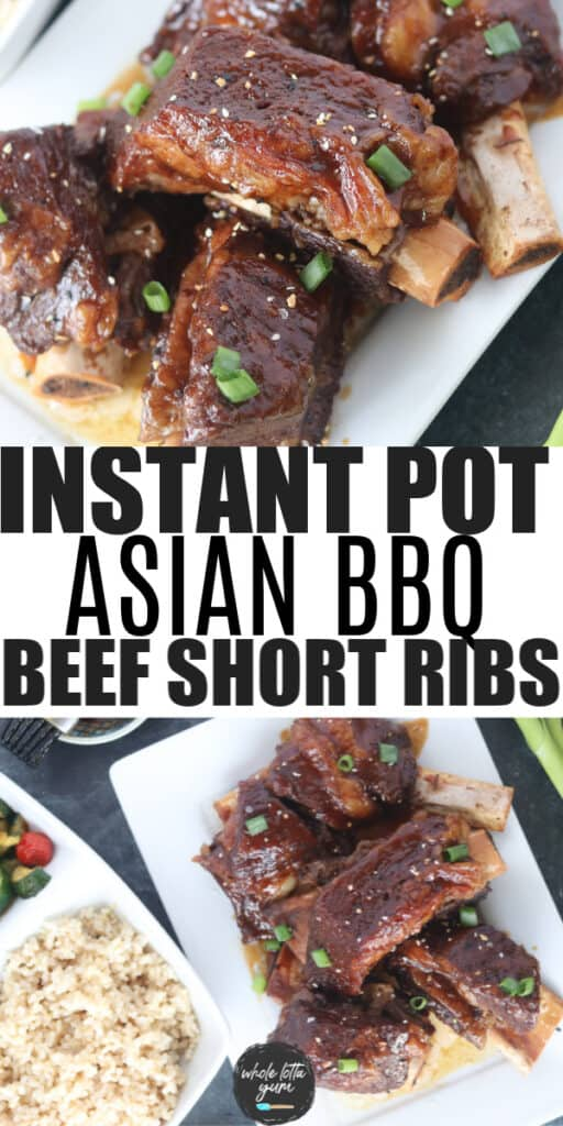 instant pot short ribs Pinterest pin