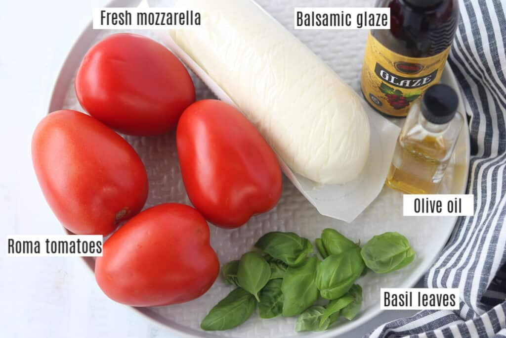 tomato basil mozzarella salad ingredients