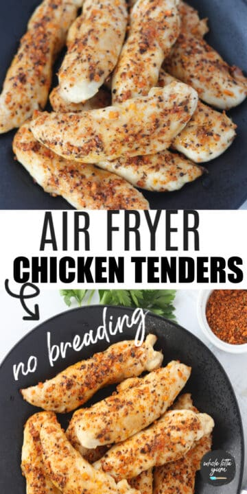 unbreaded chicken tenders in air fryer pinterest pin