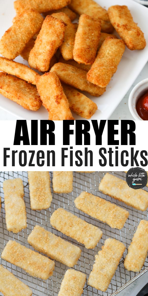 air fryer fish sticks pin for Pinterest