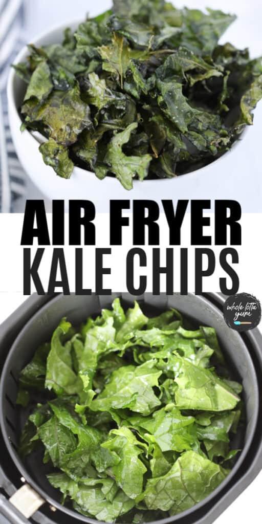 air fryer kale pin for Pinterest