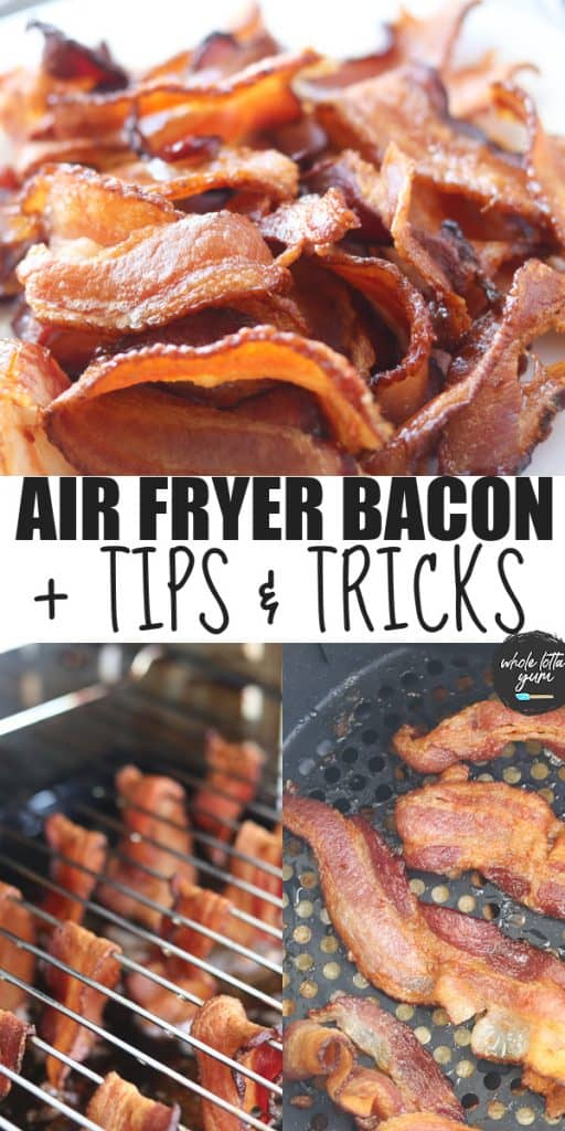 bacon in air fryer oven pin for Pinterest