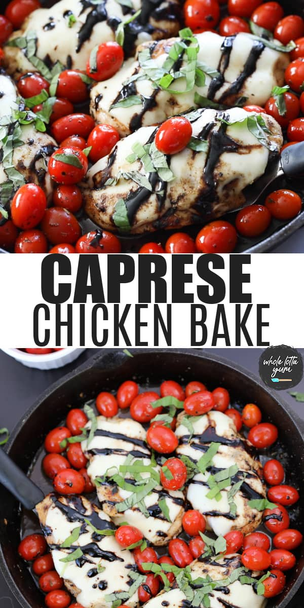 caprese chicken pinterest pin