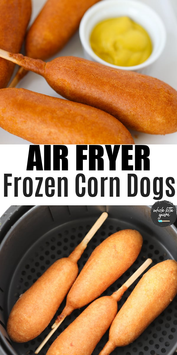 frozen corn dog air fryer pin for Pinterest