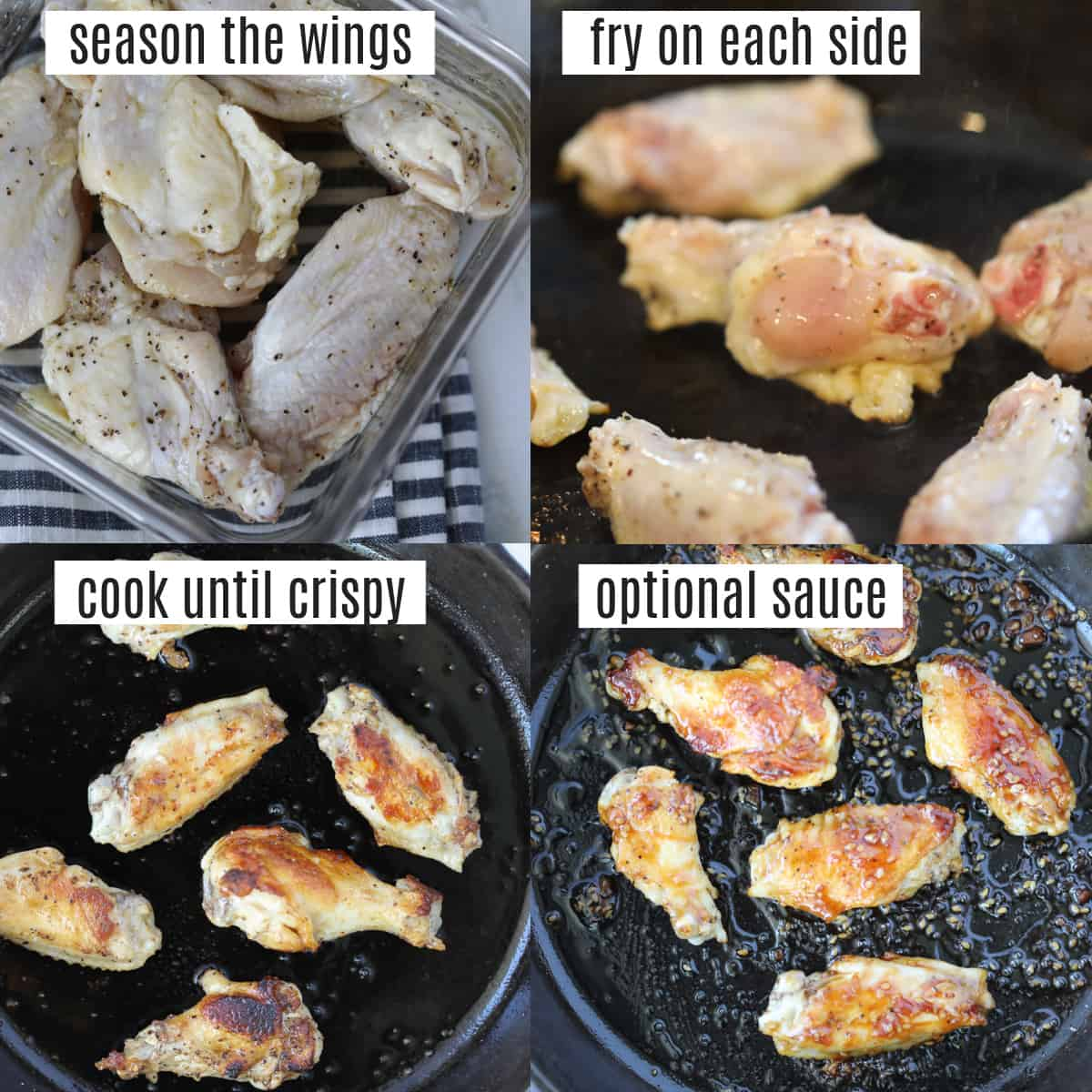 how to fry chicken wings without flour recipe steps