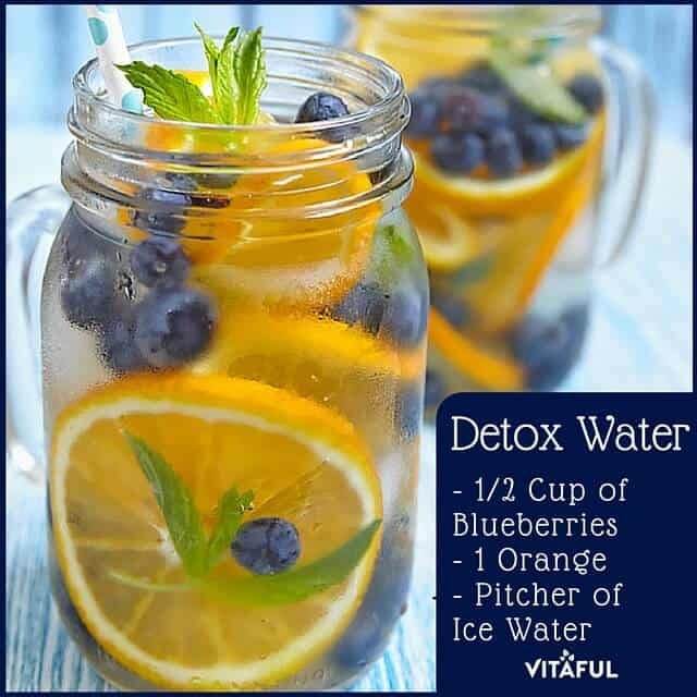 orange blueberry detox water