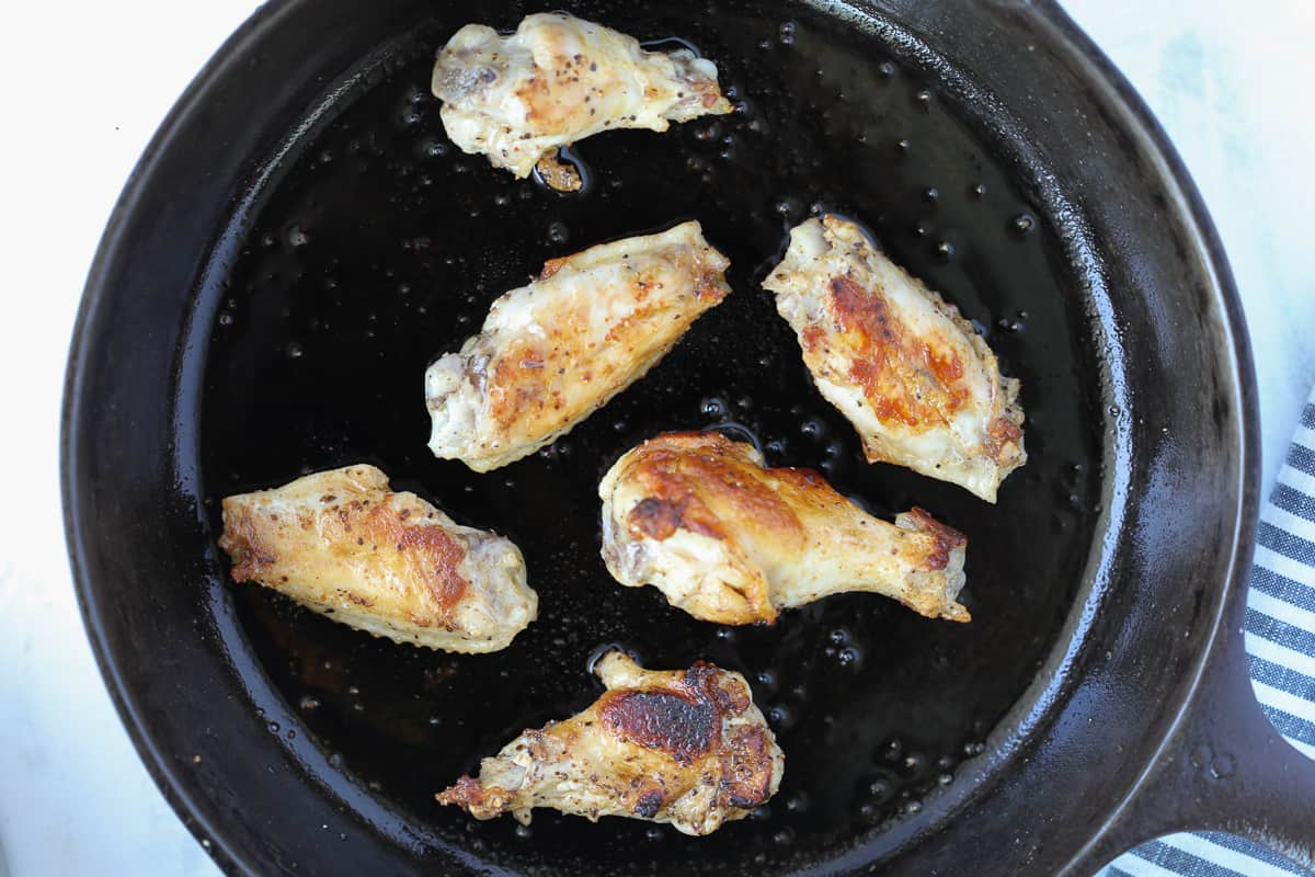 healthy pan fried wings without flour