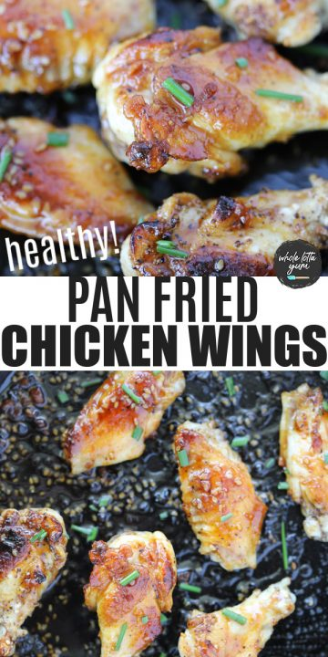 pan seared chicken wings pin for Pinterest