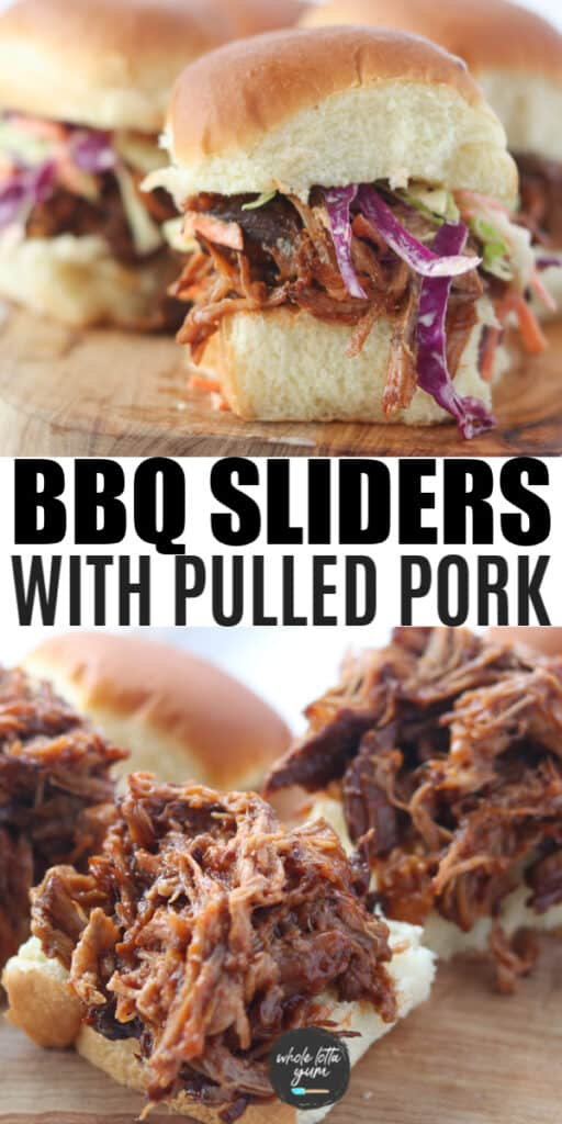 pulled pork sliders recipe pin for Pinterest