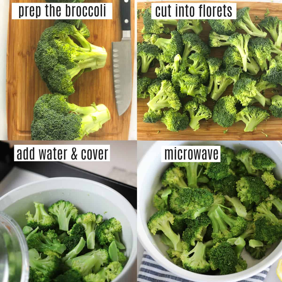 steaming broccoli in microwave recipe steps