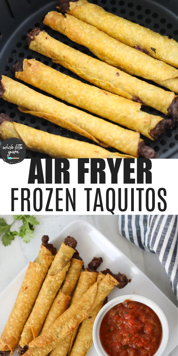 taquitos in air fryer pin for Pinterest