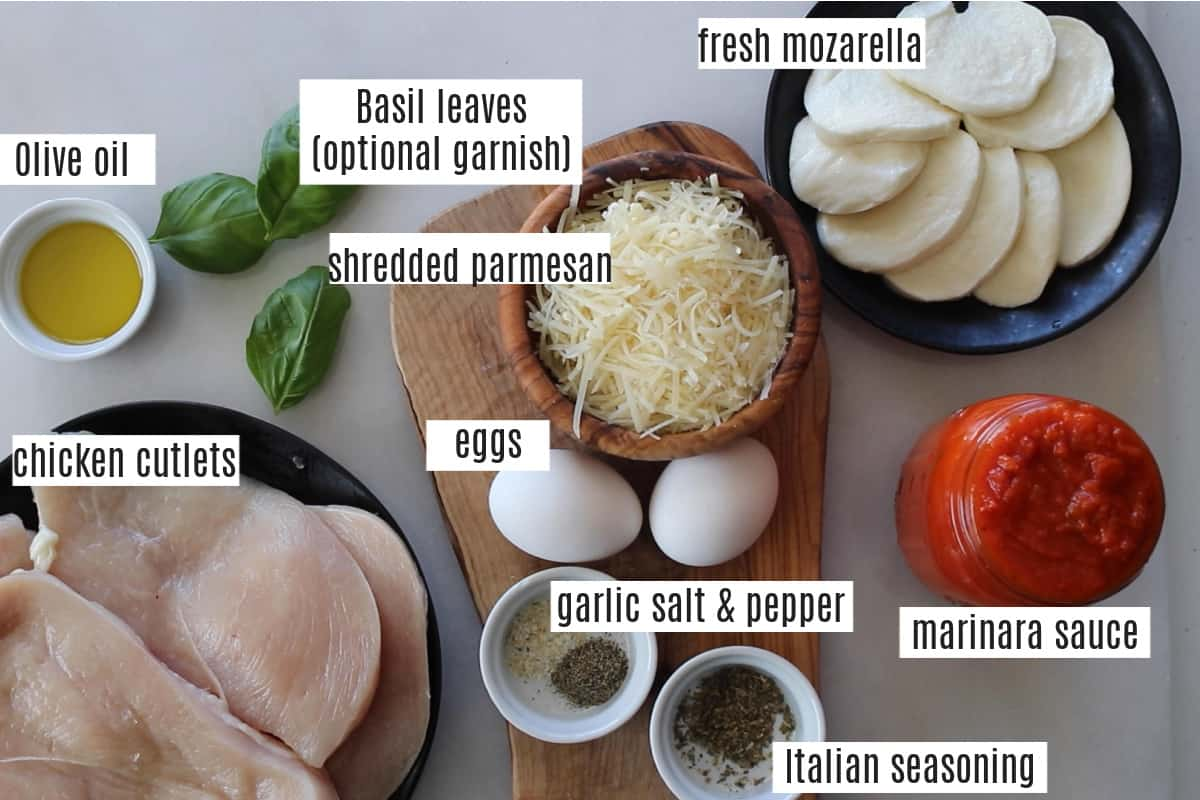 image showing you whats in chicken parmesan with each ingredient