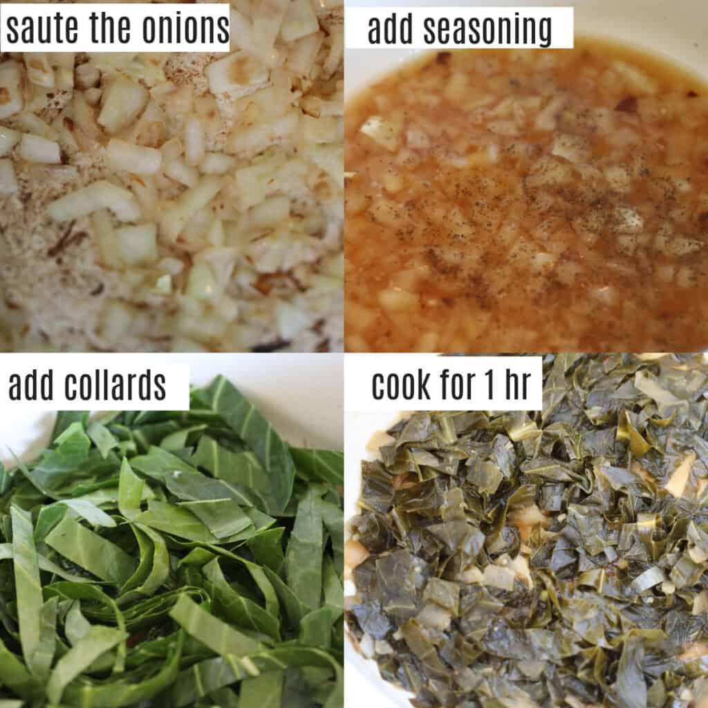how to make vegan collard greens steps
