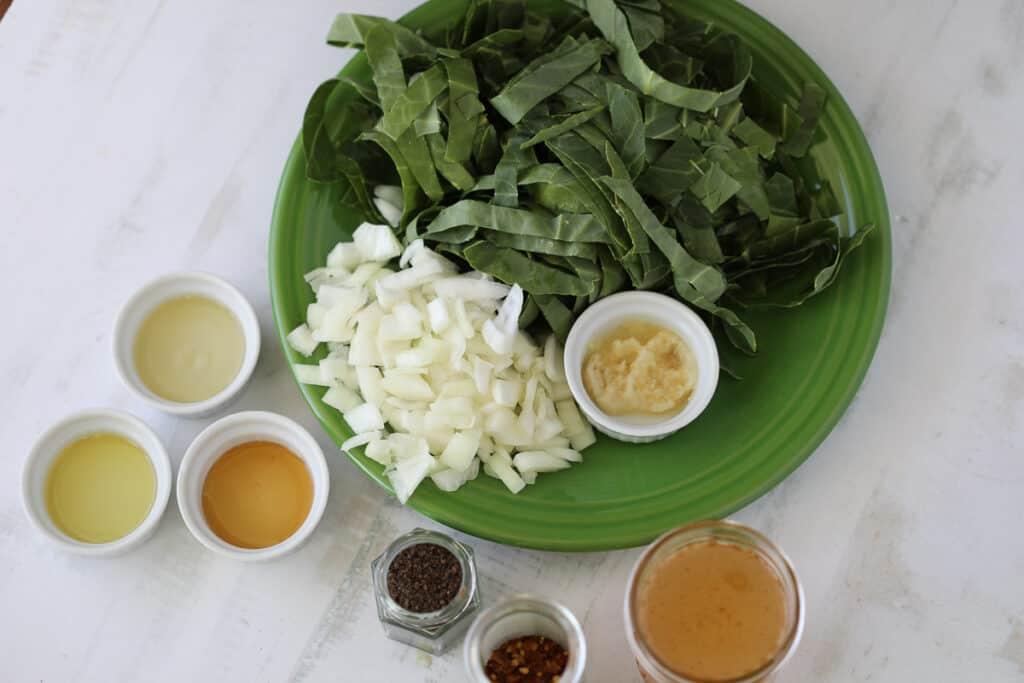 vegetarian collard greens ingredients image