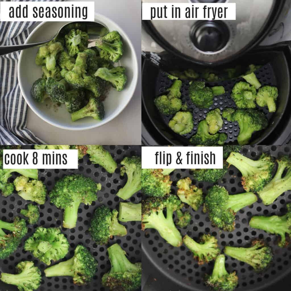 air fried frozen broccoli recipe steps