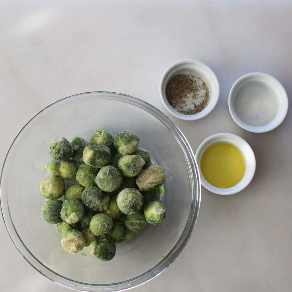 ingredients for the air fryer brussel sprouts from frozen