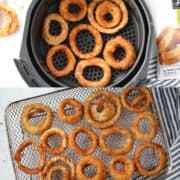 the air fryer onion rings recipe works in an oven style or basket style air fryer