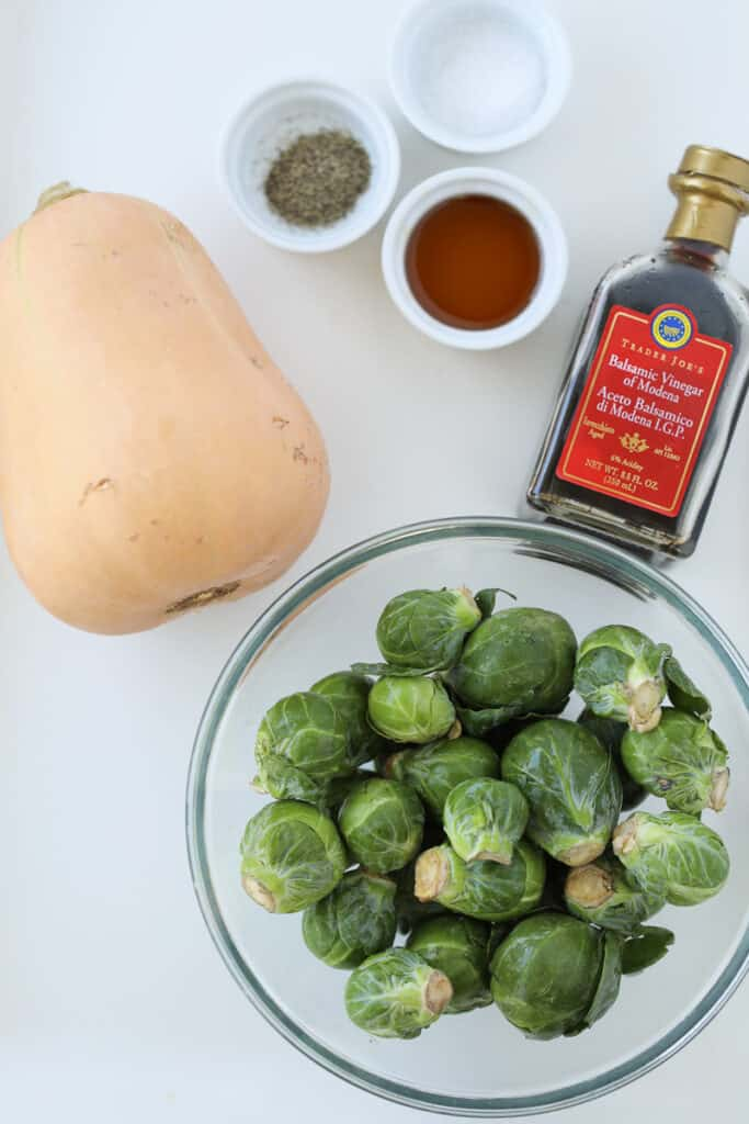 the butternut squash brussel sprouts recipe ingredients