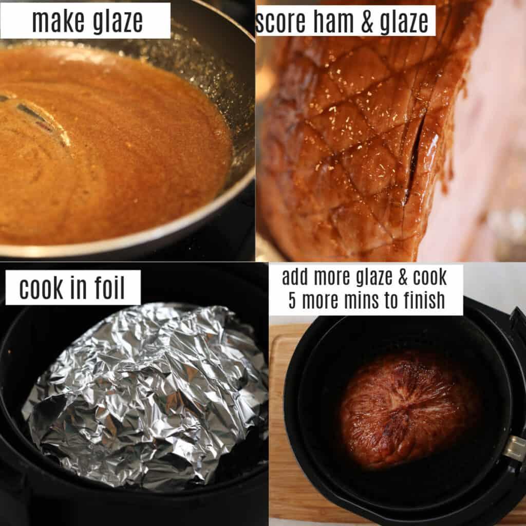 cooking a boneless ham air fryer recipe steps