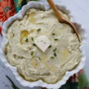 instapot mashed potatoes with melted butter and chives