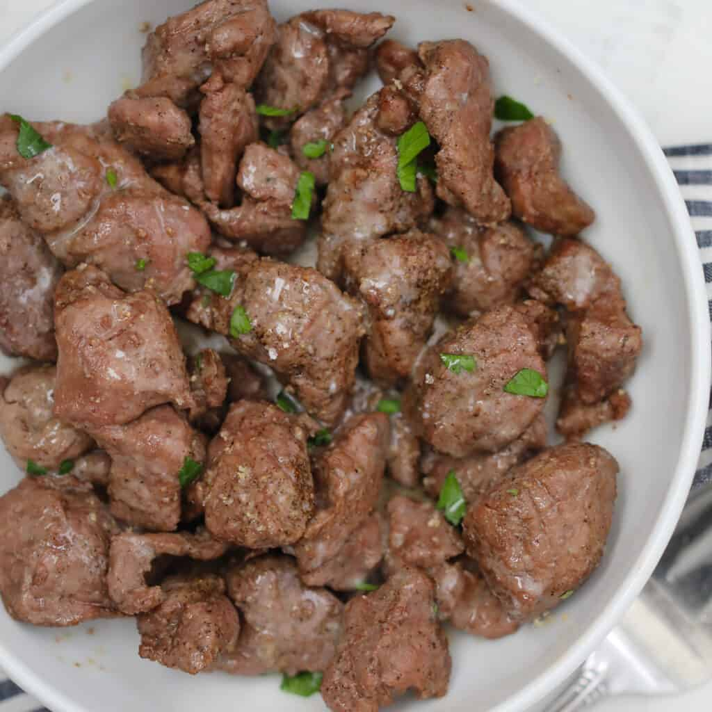 the steak tips in air fryer after cooking