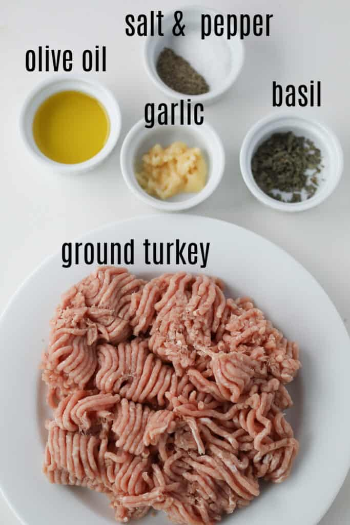 turkey burger air fryer ingredients