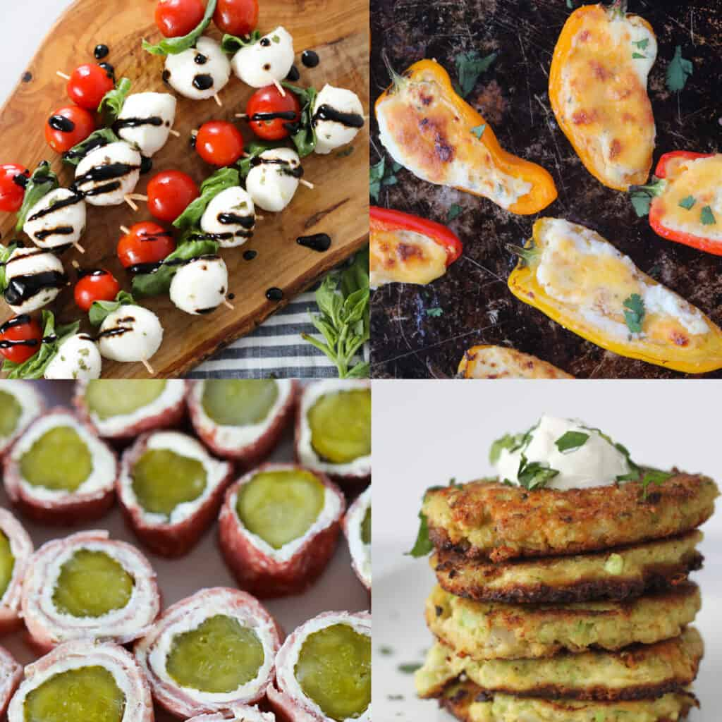 keto friendly appetizers collage of recipes