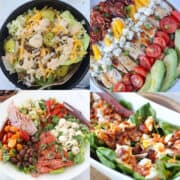 keto friendly salad recipes collage