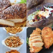 easy air fryer recipes for beginners collage of photos