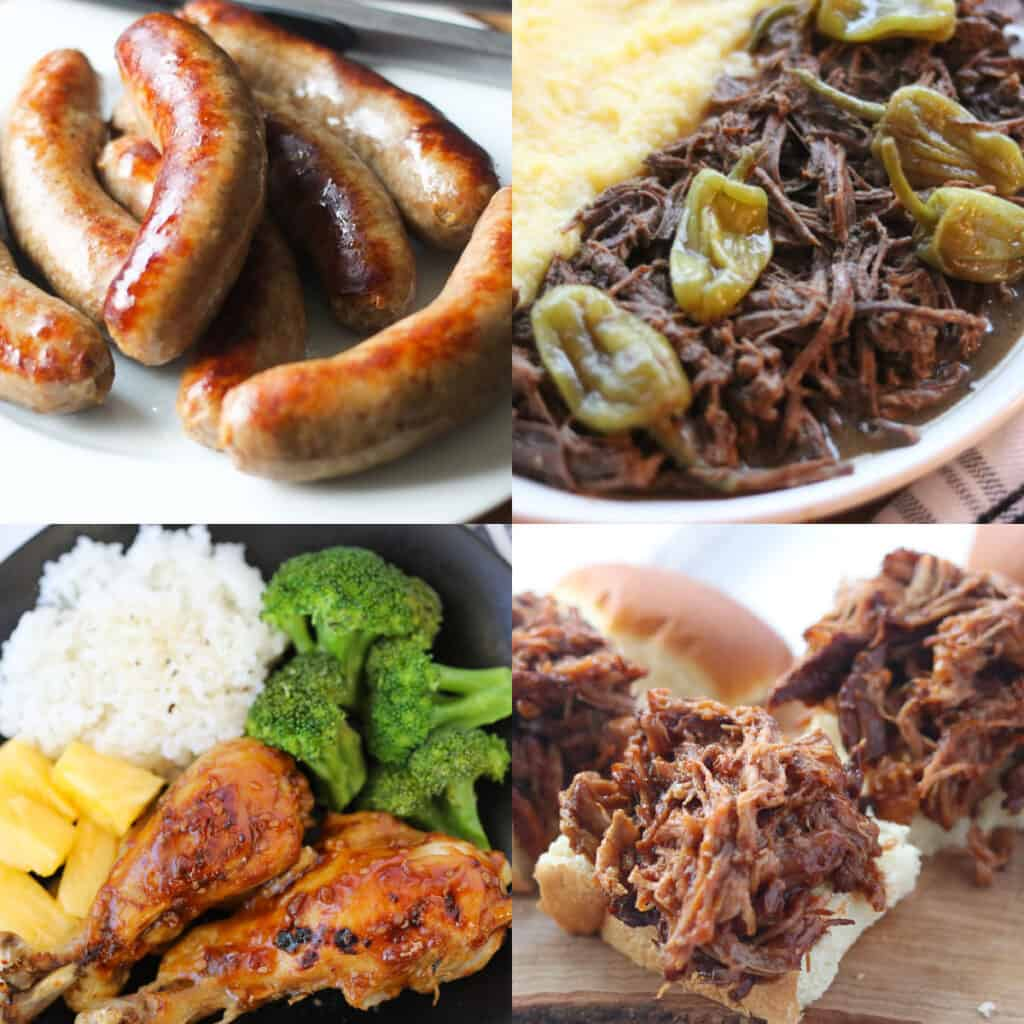 instant pot cook times image of meats