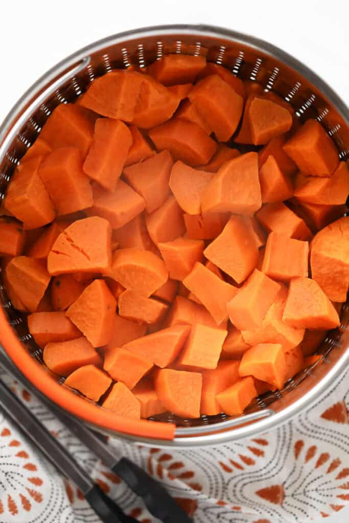 instant pot sweet potato cubes after cooking