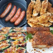 keto air fryer recipes collage of ideas