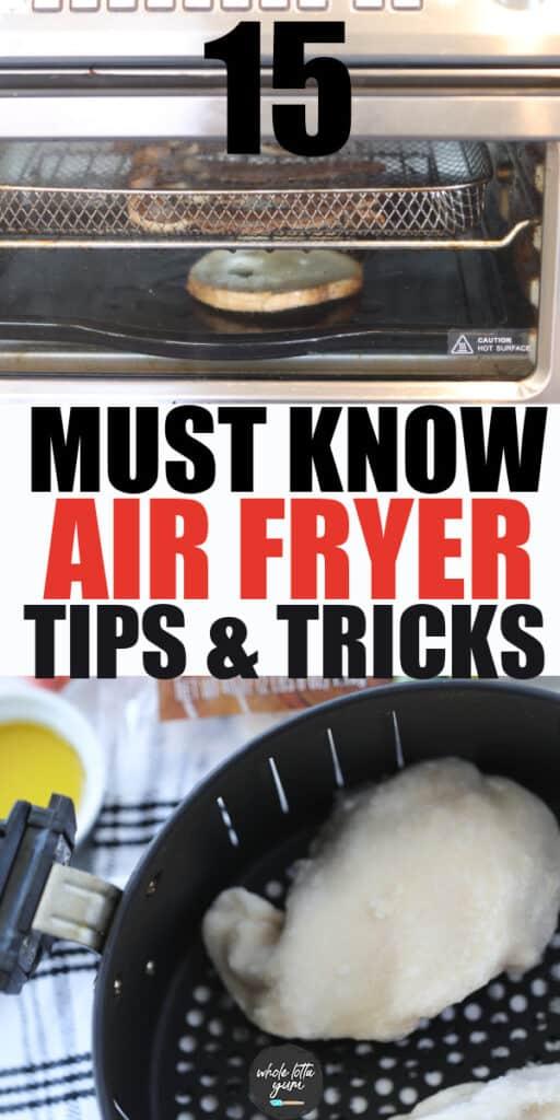 tips for an air fryer Pinterest pin