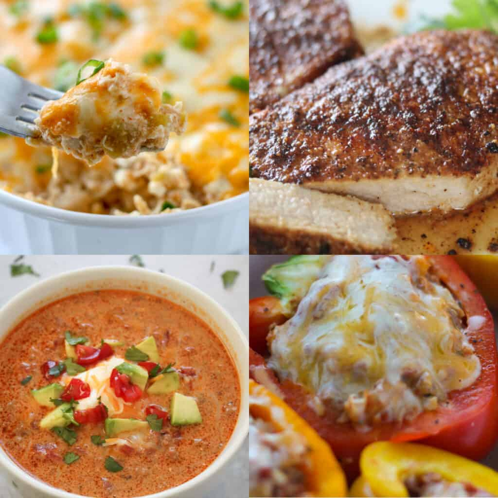 collage of top 10 recipe images for 2020