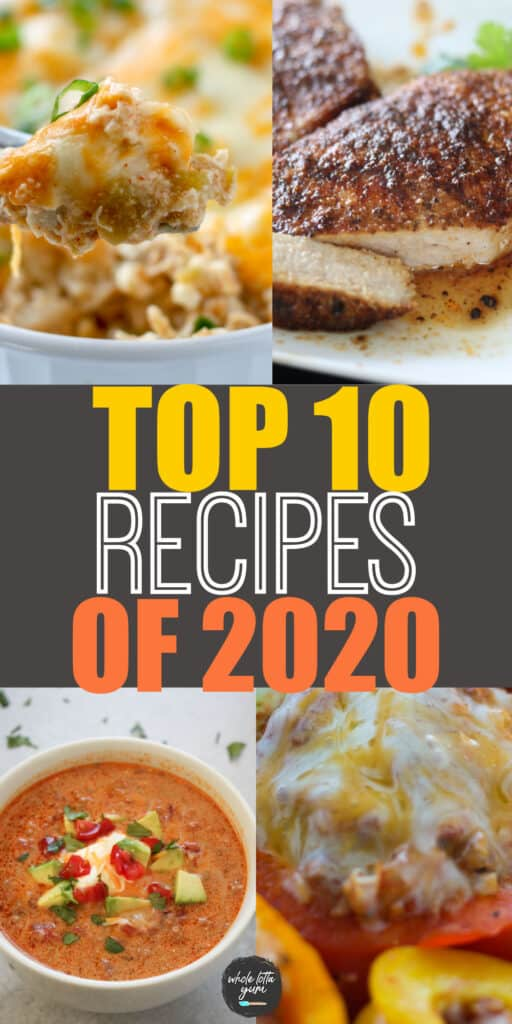 top 10 recipes pin for pinterest