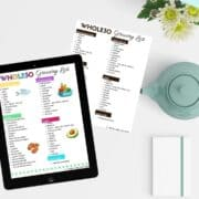 whole30 grocery list pdf collage