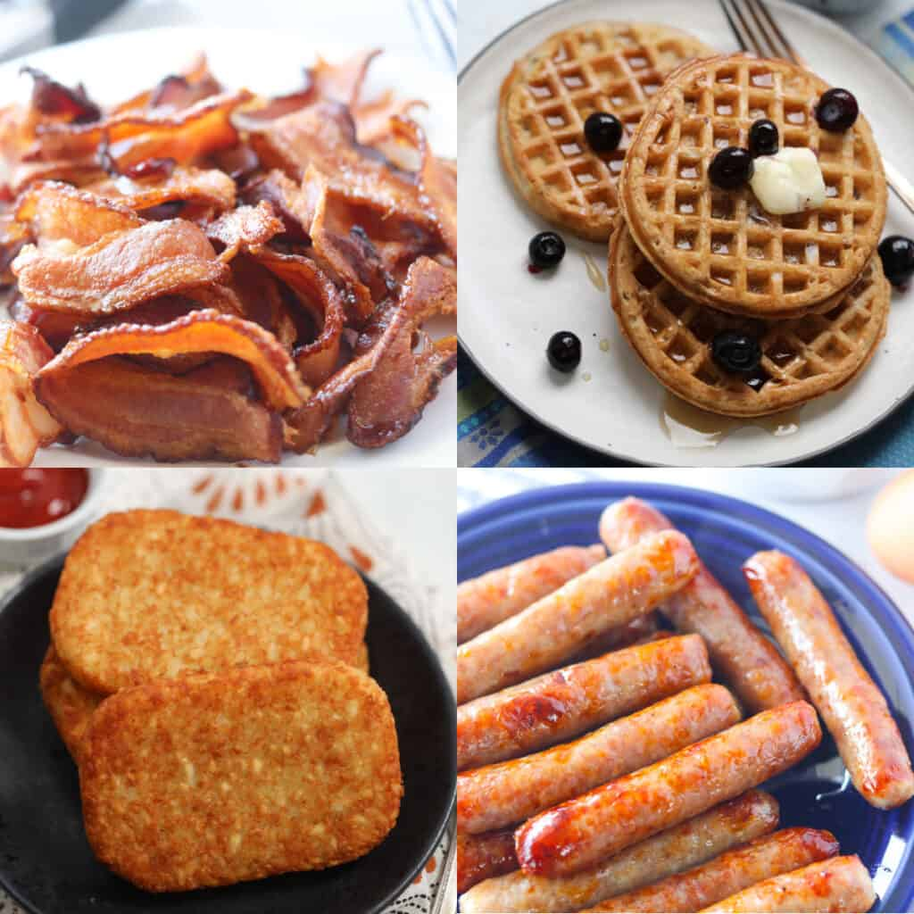 air fryer breakfast recipes collage of ideas