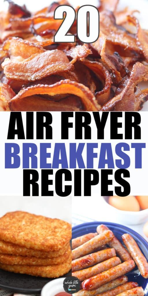 breakfast recipes air fryer pin for pinterest