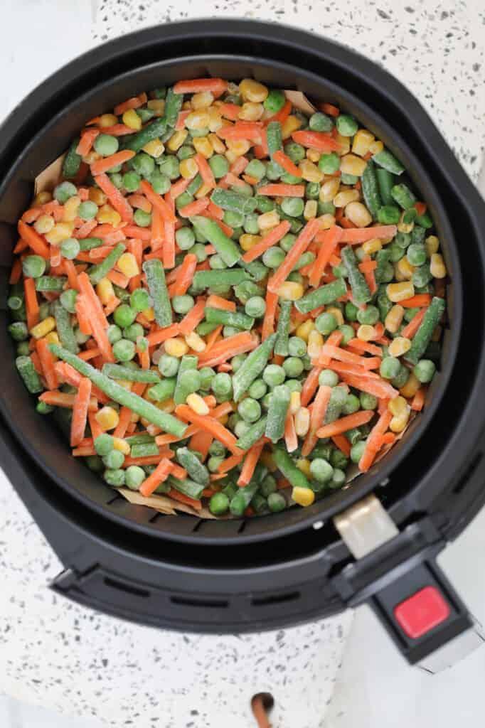 the frozen veggies in air fryer before cooking