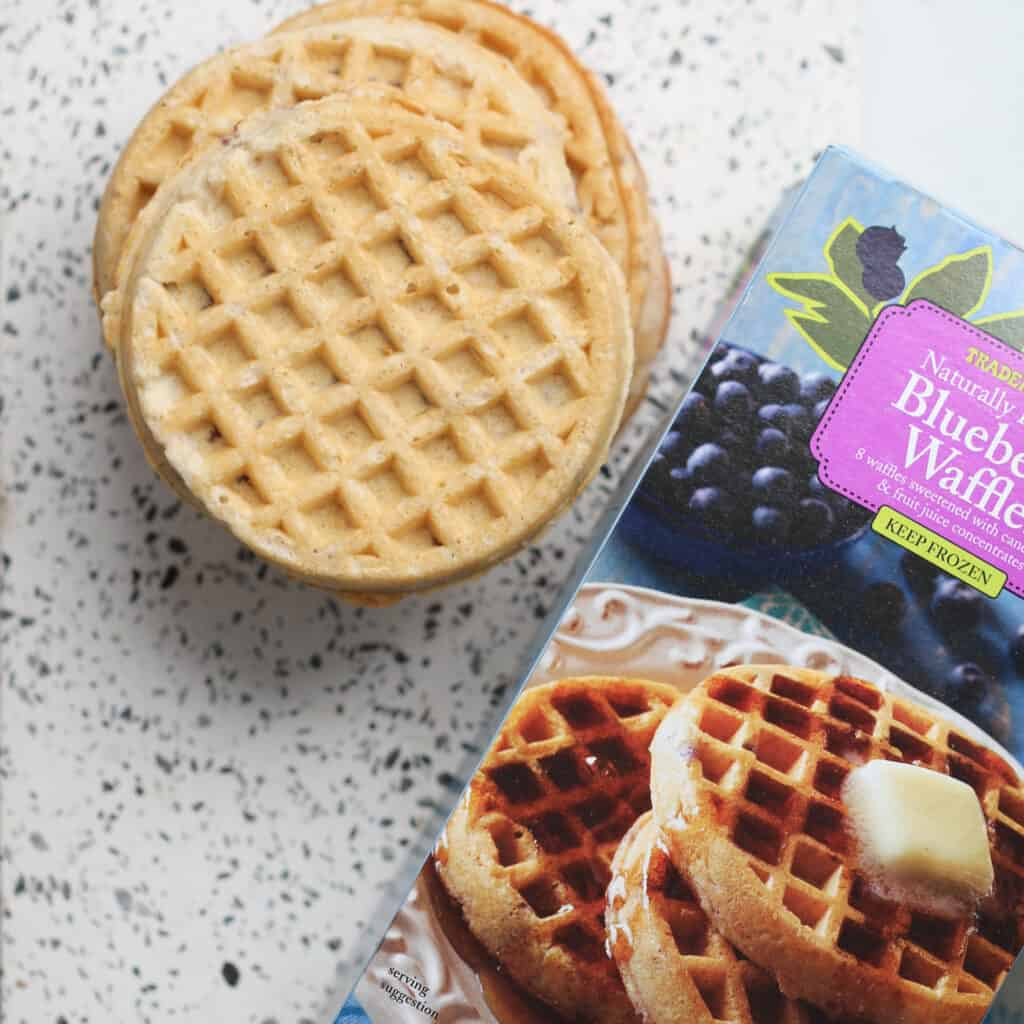 we used trader joes frozen waffles air fryer recipe for breakfast