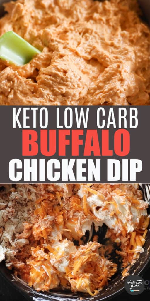 keto buffalo chicken dip pinterest pin